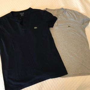 Bundle of two Lacoste Henley shirts size small